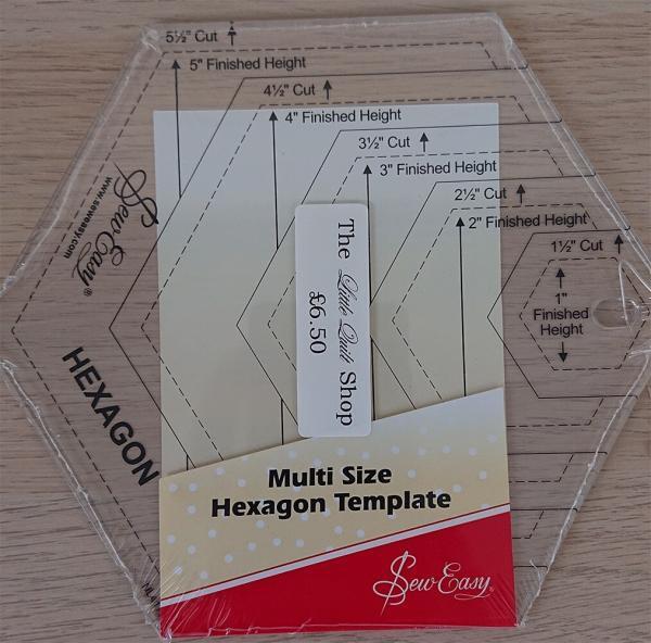 Multi-size Hexagon Template