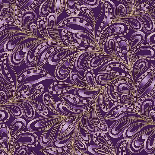 Cat-I-Tude-Feathery Paisley Purple