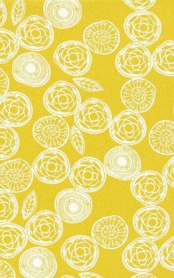 Ikat Love Birds-Tree Rings Mustard