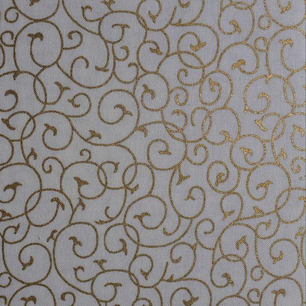 Cream and Gold Swirls