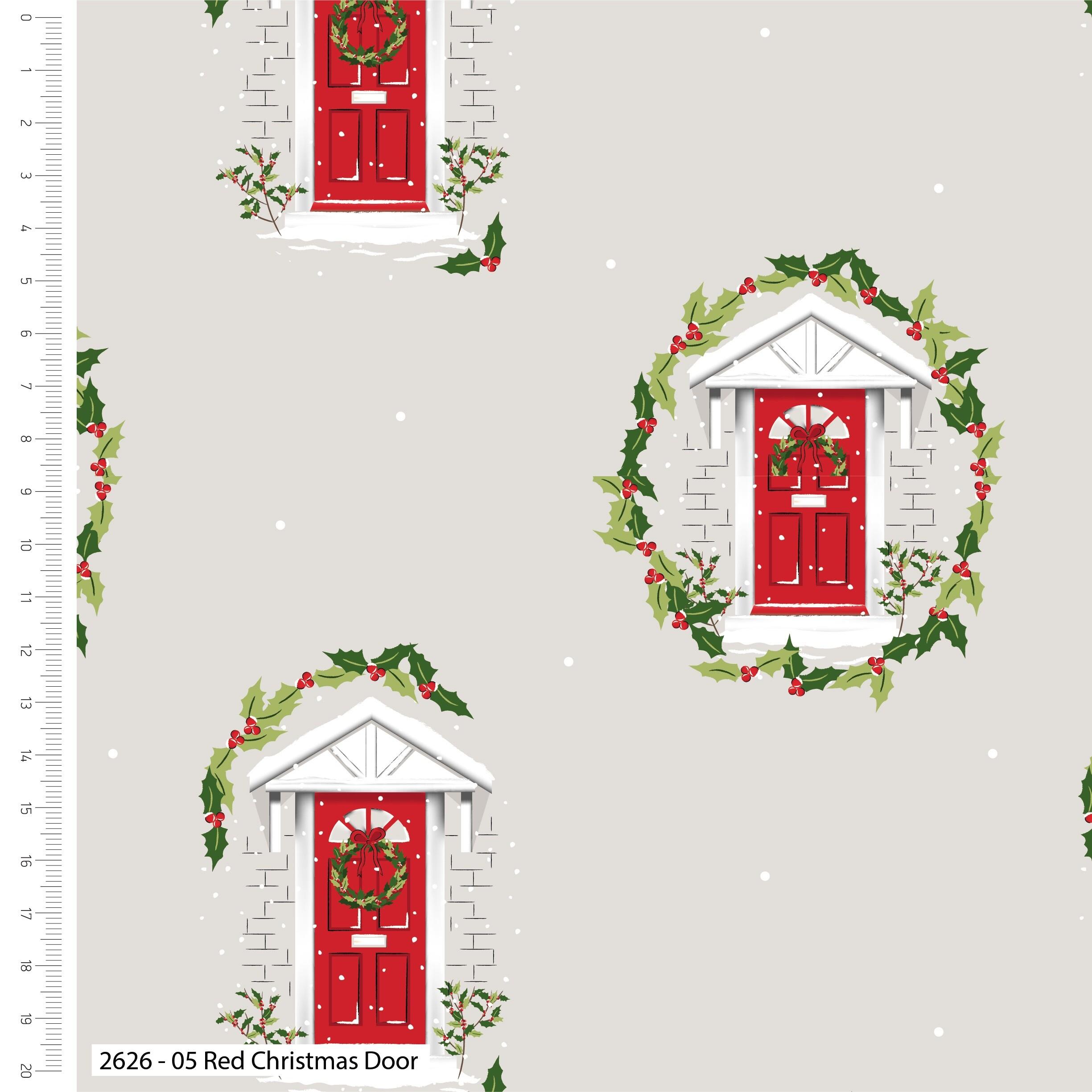 Traditional Christmas Red Door