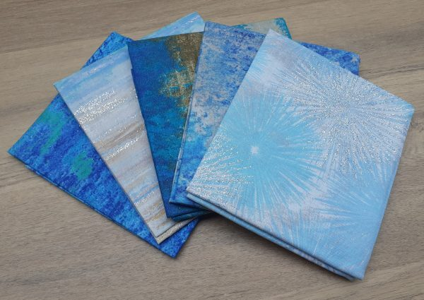 Glittery Sand and Water Fat Quarter Bundle