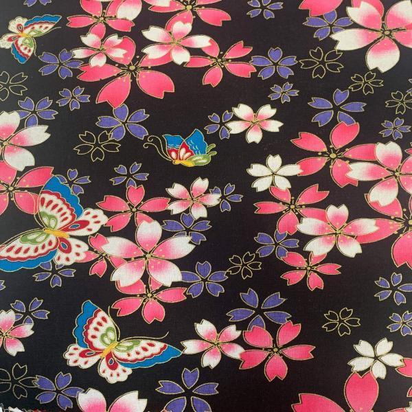 Japanese Metallic-Black Butterflies