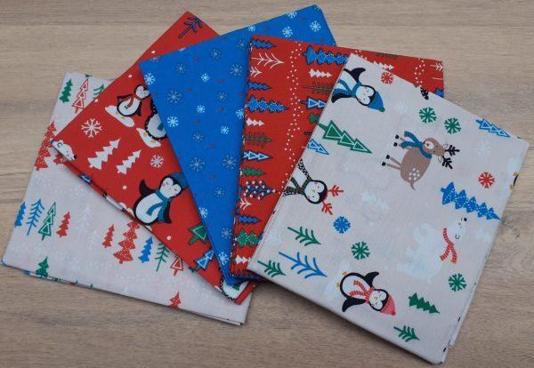 Christmas penquins Fat Quarter Bundle