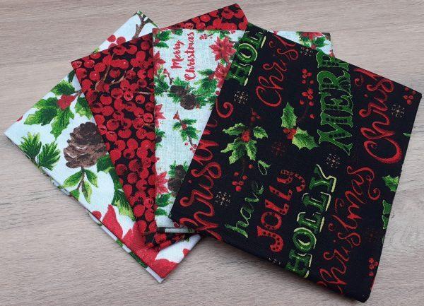 Christmas Floral Fat Quarter Bundle