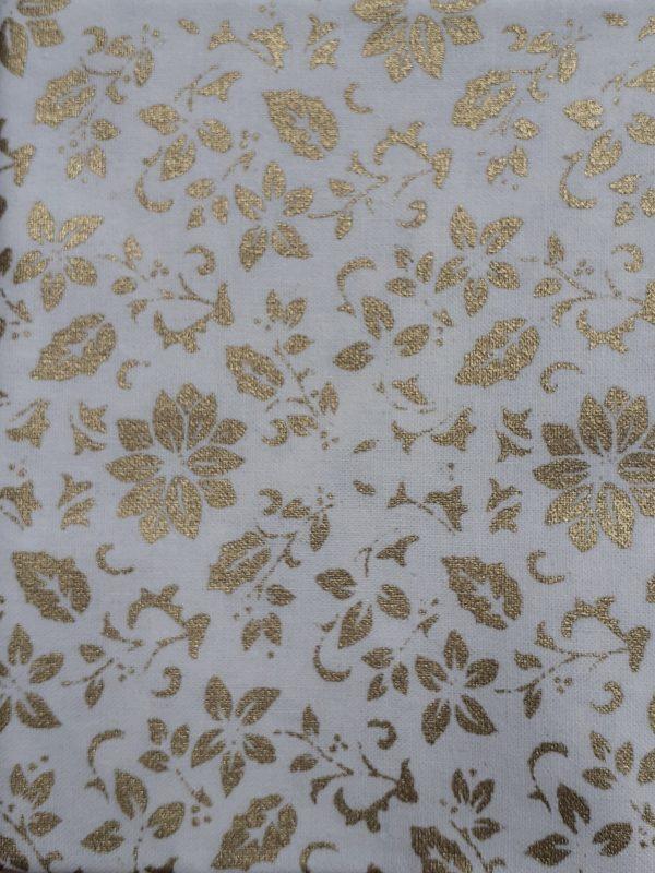Gold Poinsettia on Cream