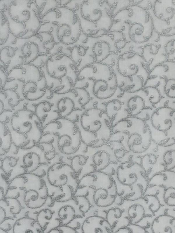 Silver swirls on White