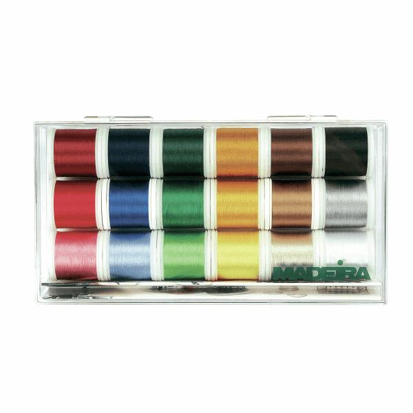 Madeira Rayon No.40 Machine Embroidery Thread: 18 x 200m: Spools