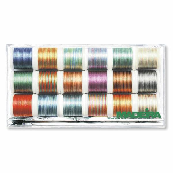 Madeira Polyneon No.40 Multicolour Machine Embroidery Thread: 18 x 400m: Spools