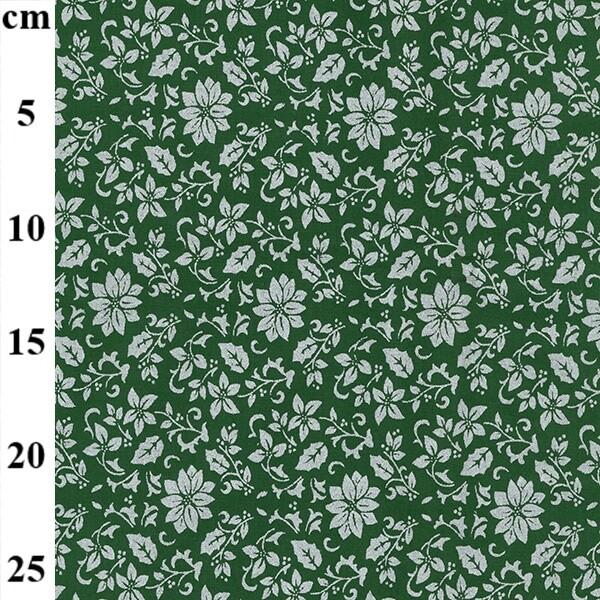 Silver Poinsettia on Green