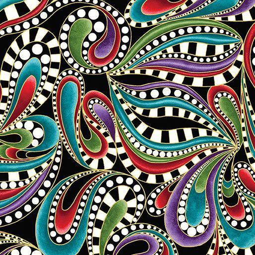 Cat-I-Tude-Paisley Tonal Swirl Multi