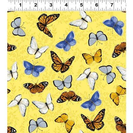 Sunny Fields by Clothworks- Butterflies