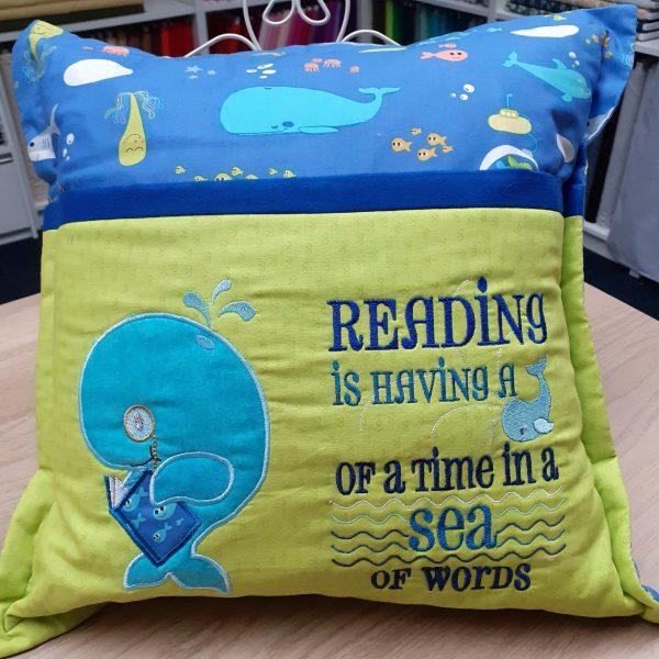 Book Cushion-whale