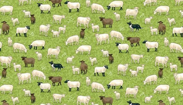 Village Life by Makower-Sheep