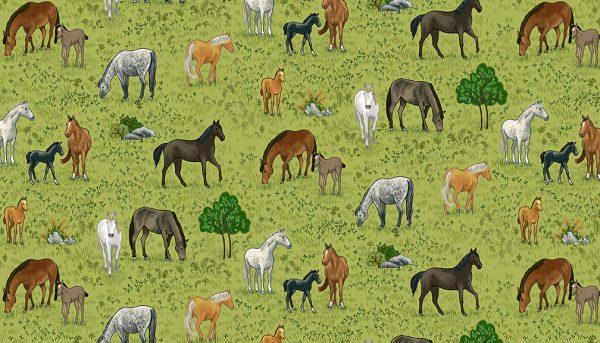 Village Life by Makower-Horses