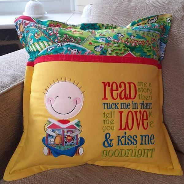 Book Cushion-Farmyard Boy