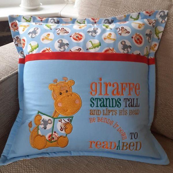 Book Cushion-Giraffe