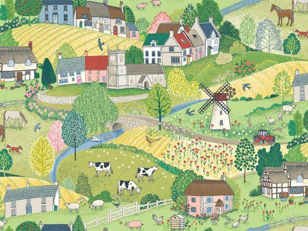 Village Life by Makower-Scenic