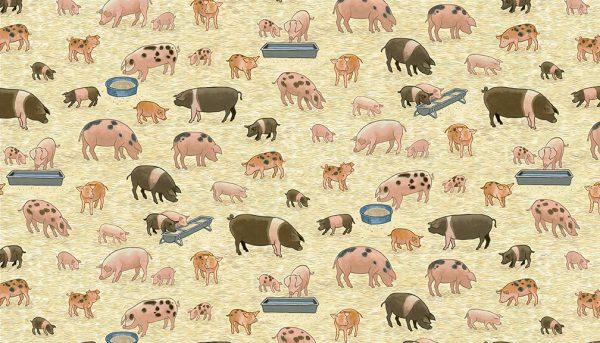 Village Life by Makower-Pigs