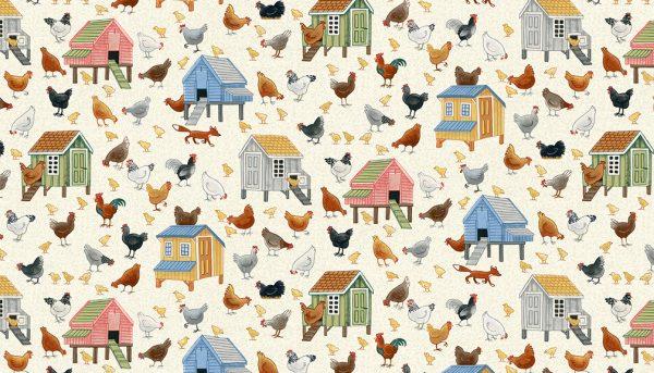 Village Life by Makower-Chickens